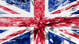 Artistic Blue Flag Red United Kingdom White 2540x1388 wallpaper