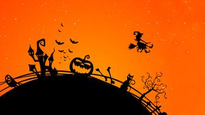 Vector Halloween Spooky Artwork Witch 5820x3274 Wallpaper