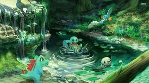 Mudkip Pokemon Oshawott Pokemon Piplup Pokemon Pokemon Squirtle Pokemon Totodile Pokemon 1920x1080 Wallpaper
