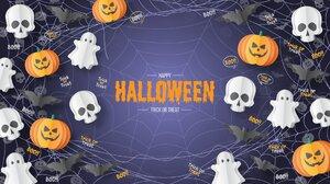 Pumpkin Skull Ghost Halloween 1920x1080 Wallpaper