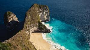 Bali Bay Beach Cliff Ocean 6307x4205 Wallpaper