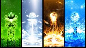 Earth Elemental Fire Water 1600x1200 Wallpaper