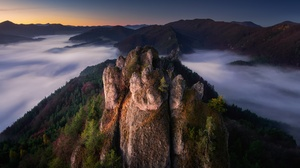 Nature Rock Rock Formation Sky Sunset Trees Mountains 2048x1366 Wallpaper