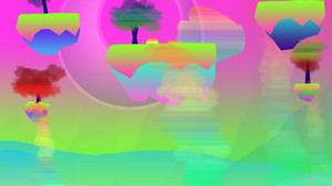 Abstract Digital Glowing Colorful Trees Spectrum 3900x2850 Wallpaper