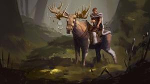 Forest Moose Archer 1672x1000 Wallpaper