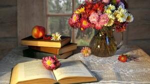 Apple Book Flower Pitcher Vase 1920x1200 Wallpaper