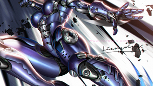 Liang Xing Drawing Alita Alita Battle Angel Androids Short Hair Fighting Low Angle Weapon Blades Fac 1120x1280 Wallpaper