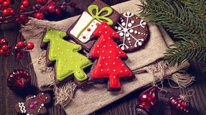 Christmas Christmas Tree Cookie Gingerbread 2560x1706 Wallpaper