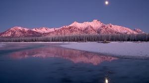 Mountain Nature Reflection Sky Snow 2048x1365 Wallpaper