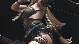 Dylan Kowalski Fantasy Art Fantasy Girl Digital Art Archer Elves Women Blonde Pointy Ears Aiming Arr 3840x5258 Wallpaper