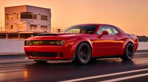 Car Dodge Dodge Challenger Srt Muscle Car Red Car 1920x1080 Wallpaper