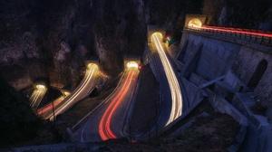 Night Light Road 1920x1280 wallpaper