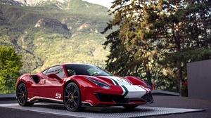 Car Ferrari Ferrari 488 Red Car Sport Car Supercar Vehicle 4096x2730 Wallpaper