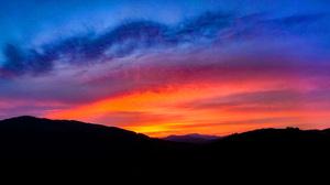 Sunset Slovakia Vepor Nature Sky 3840x2160 Wallpaper