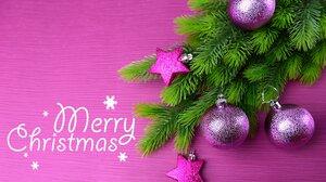 Christmas Christmas Ornaments Merry Christmas Purple 1920x1200 Wallpaper