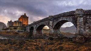 Bridge Castle Eilean Donan Castle Scotland 2138x1100 wallpaper