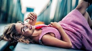 Dress Girl Glasses Model Mood 2560x1703 Wallpaper