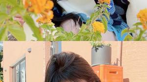 Kiku Ju Jingyi Actress Singer Women Chinese Asian Long Hair Sweater Yellow Flower 1500x3000 wallpaper