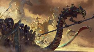Shield Skeleton Sword Total War Warhammer Undead Warrior 1920x1080 wallpaper
