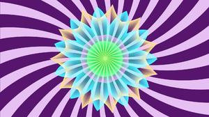 Artistic Colors Digital Art Flower Kaleidoscope 1920x1080 Wallpaper