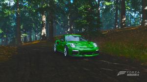 Forza Horizon 4 Car Video Game Art Forest Porsche Porsche 911 GT3 RS 3840x2160 Wallpaper