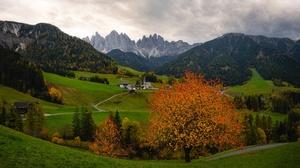 Road Fall Forest Cloud Mountain Rock Alps 3840x2160 Wallpaper