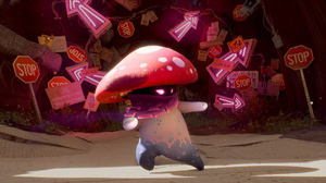 Plants Vs Zombies Red Amanita Muscaria Signs Neon Sign Stop Sign Video Game Art Mushroom Red Eyes Vi 1920x1080 Wallpaper