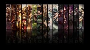 Ahri League Of Legends Akali League Of Legends Ashe League Of Legends Caitlyn League Of Legends Irel 1920x1080 Wallpaper