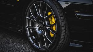 Saab BBS Tires SAAB 9 3 Sport Sedan Saab 93 Ss Black Black Cars Yellow Wheels 4288x2412 Wallpaper