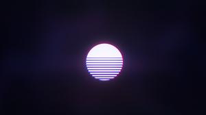 Sun Synthwave Outrun 3840x2160 wallpaper