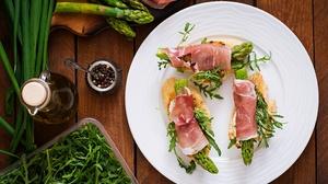 Asparagus Salad Food Bacon 3126x2013 Wallpaper