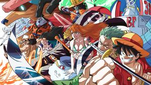Anime Monkey D Luffy Nami Sanji Roronoa Zoro One Piece Tony Tony Chopper Nico Robin Jimbei Franky Br 2800x1700 Wallpaper