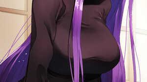 Fate Stay Night Heavens Feel Fate Stay Night Fate Series Purple Hair Jeans Black Sweater Blushing Lo 3508x4961 Wallpaper
