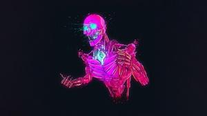 Cyberpunk Robot Skull 2800x1400 Wallpaper
