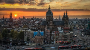 Amsterdam Building City Netherlands Sunset 2048x1329 Wallpaper