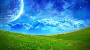 Cloud Landscape Moon 1680x1050 wallpaper