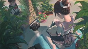 Garden Girl 1920x1357 wallpaper