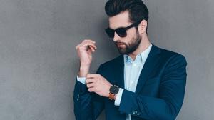 Beard Man Model Suit Sunglasses 3000x2002 Wallpaper