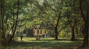 Painting Pastoral Forest Green Landscape Impressionism 2000x1246 Wallpaper