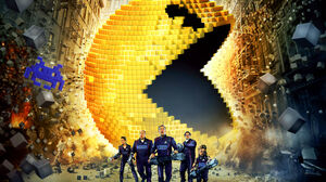 Adam Sandler Pac Man Pixels Movie 2560x1600 Wallpaper