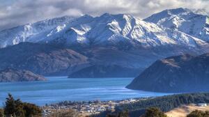 Lake Lake Wanaka New Zealand Mountain Landscape Cloud Aotearoa Southern Alps 5173x3436 wallpaper