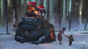 Child Forest People Toad Winter 1920x1100 Wallpaper