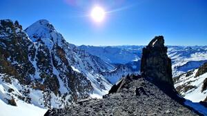 Alps Earth Landscape Mountain Nature Rock Sky Snow Tyrol Winter 3052x1717 Wallpaper