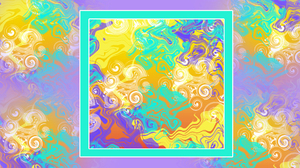 Artistic Colorful Digital Art Distortion Swirl 1920x1080 wallpaper