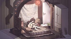 Anime Girls Guitar Digital 1848x1224 Wallpaper