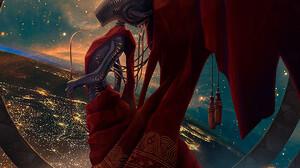 Alexey Egorov Digital Art Fantasy Art Robot Aliens Space 900x1371 Wallpaper
