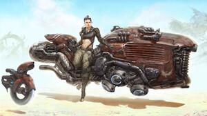 Steampunk Dieselpunk Star Wars Rey 1920x1168 wallpaper