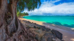 Ocean Sea Turquoise Thailand Banyan Tree Horizon 2048x1364 Wallpaper