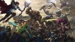 Heroes Of The Storm Knight Sylvanas Windrunner Thrall World Of Warcraft Tyrael Diablo Iii 1920x1080 Wallpaper