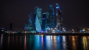Building City Moscow Night River Russia Skyscraper 2560x1707 Wallpaper